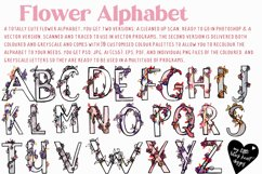 Flower Alphabet - vector and bitmap Product Image 4
