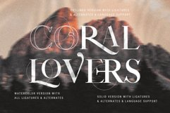 Coral Lovers SVG Watercolor Font Duo Product Image 4