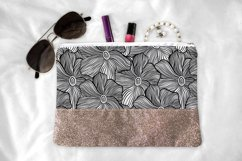 Black&White floral seamless pattern collection, 4 patterns Product Image 3
