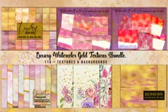 Luxury Gold Watercolor Bundle. Watercolor textures kit, Product Image 1