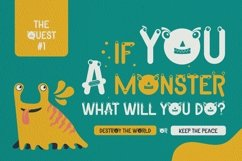 Web Font Holly The Monster Font Product Image 3
