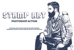 Stamp Art Photoshop Action Product Image 1