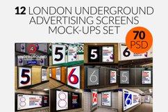 12 London Underground Ad Screen Mock-Ups Bundle / 70 PSD Product Image 1