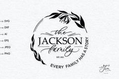 Graceful wedding monogram frame SVG, Family monogram svg Product Image 1