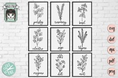 Herbs SVG files, Herb Set Cut file, Garden, Kitchen, Organic Product Image 1