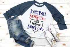 Baseball Season is My Favorite Season SVG Product Image 1