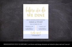 Gold Before we do we dine invitation, Printable rehearsal Product Image 3
