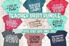 Teacher Shirt SVG Bundle - Back to School Cut Files Product Image 1