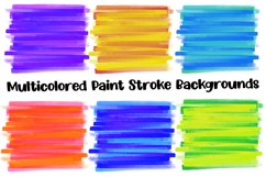 Multicolored Paint Stroke Backgrounds for Sublimation Product Image 3