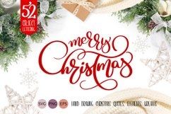 Merry Christmas Quotes and Objects Calligraphy Collection Product Image 1