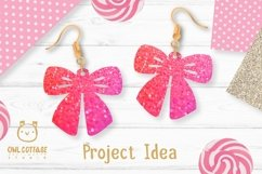 Bow Earrings SVG, Ribbon Earrings svg template, bow svg Product Image 4