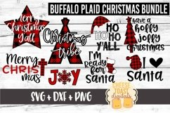Buffalo Plaid Christmas Bundle - Christmas SVG Files Product Image 1