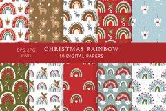 Christmas Rainbow Seamless Patterns Product Image 1