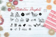 Christmas Script and Celebrations Dingbat Font Duo Product Image 2