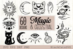 Magic and Celestial SVG bundle 60 designs Product Image 6