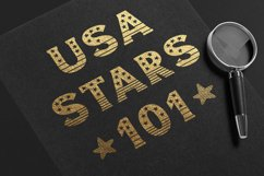 America - USA 4th of july Nation Day Classic Display font Product Image 2
