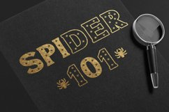 Halloween Spider Display font |Halloween font decorate craft Product Image 3