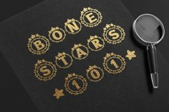 Bone Stars Halloween Monogram Display font / Procreate font Product Image 5