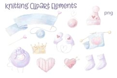 Watercolor Clipart Knitting Product Image 3
