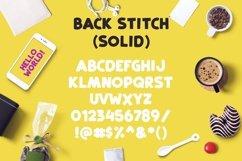 Web Font Back Stitch Product Image 4