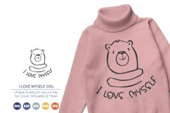 I Love Myself SVG | Inspirational SVG | Bear SVG Product Image 1
