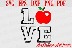 Teacher Svg Teach Love Svg School Svg Love School SVG Love S Product Image 2