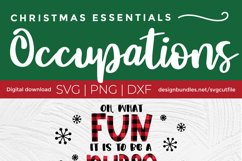 Christmas Nurse Practitioner svg - np svg - oh what fun Product Image 2