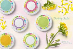 Spring Circle Frames Clipart Set of 24 PNG files Product Image 1