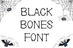 Black Bones Halloween Font Product Image 1