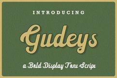 Gudeys - a Bold Display font Product Image 1