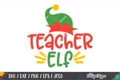 Teacher Elf SVG, Elf Hat, Christmas Teacher SVG DXF PNG File Product Image 1