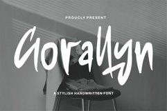 Web Font Gorallyn - A Stylish Handwritten Font Product Image 1