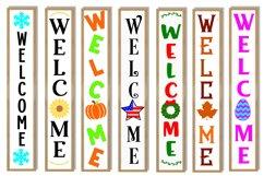 Vertical Welcome Sign Bundle - Porch Signs Bundle Product Image 2