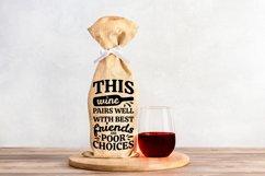 Wine Bag SVG Bundle, Christmas Wine SVG files for Cricut Product Image 11