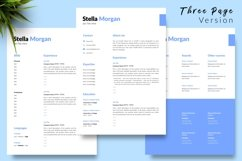 Simple Resume CV Template for Word & Pages Stella Morgan Product Image 4