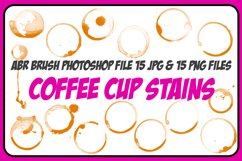 1 ABR, 15 JPG, 15 PNG Coffee Cup Stain and Spills! And Bonus Product Image 1