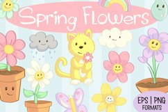 Spring Flower Clip Art Collection Product Image 1