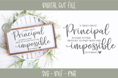 A Truly Great Principal Is Hard To Find - SVG Cut File Product Image 1