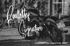 Web Font RoulettesSignature - Handwritten Font Product Image 1