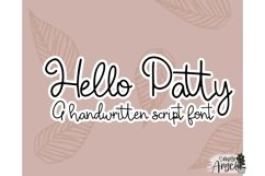 Hello Patty - a smooth handwritten script font Product Image 1