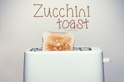 Zucchini Toast, A handwritten fun font with extras Product Image 1