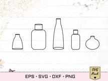 Wildflowers in vases bundle SVG set Product Image 2