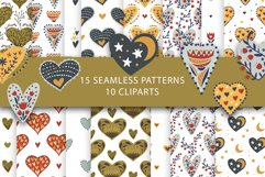 Valentine Love Patterns and Cliparts Product Image 1