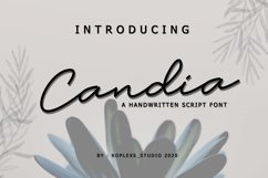 Candia Script Font Product Image 1
