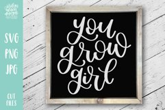 You Grow Girl, Spring Garden SVG Cut File Product Image 1