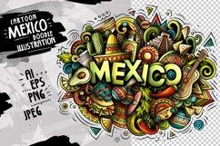 MEXICO Cartoon Doodle Illustration Product Image 1