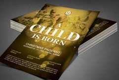 A Child is Born Church Flyer Template Product Image 6