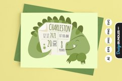 Birth Stats Cute T-Rex Product Image 1