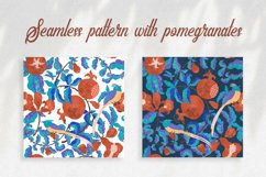 Digital pattern with Pomegranates and Birds Product Image 1