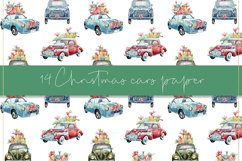 Christmas cars digital paper, seamless pattern Product Image 6